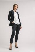 Черные женские брюки в полоску Emka D081/marino
