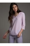 Сиреневая блуза свободного кроя Emka B2502/lolla