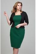Чёрно-зелёное платье Donna Saggia DSPB-08-44t