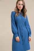 Платье синего цвета на пуговицах Emka PL967/world