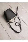 Чёрная сумка-ведро C018/carbon