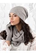 Женская шапка серого цвета Kamea Novara