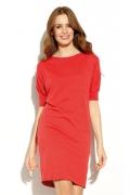 Платье из красного вязаного трикотажа Zaps Salme