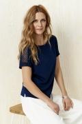 Тёмно-синяя летняя блузка Sunwear Y26-3-30