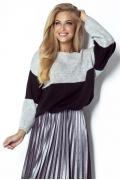 Женский стильный двухцветный свитер Fimfi I302
