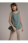 Свободная легкая блуза с разрезами по бокам Emka B2530/trop