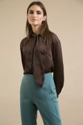 Блузка коричневого цвета Emka B2472/avogi