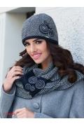 Женская шапка с твидовым узором Kamea Silvia