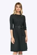 Офисное платье с геометрическим принтом Emka PL759/consoul