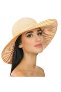 Оранжевая летняя шляпа Del Mare 025-14