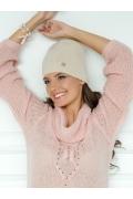 Молодёжная шапка светло-бежевого цвета Landre Берта