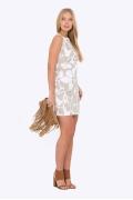 Короткое летнее платье Emka PL-492/beiler