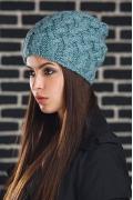 Женская удлиненная шапка Supershapka Braid