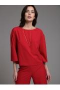 Красная блузка прямого кроя Emka B2505/viskam