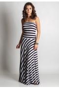 Длинное полосатое платье TopDesign A6 001