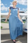 Длинная летняя юбка синего цвета Flaibach 146S8