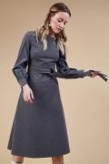 Платье А-силуэта серого цвета Emka PL813/brava