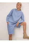 Широкие трикотажные шорты голубого цвета Emka P006/spiggan