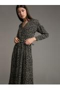 Платье А-силуэта с V-образным вырезом Emka PL961/luditas