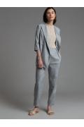 Серые зауженные брюки Emka D161/minimal