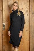 Вязаное платье чёрного цвета Fobya F611