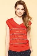 Красная блузка в полоску Zaps Rosalina