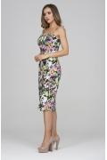 Летнее хлопковое платье на тонких лямках Donna Saggia DSP-326-85