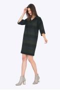 Осеннее прямое платье с полоску Emka PL713/delrio