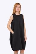Чёрное платье-балон без рукавов Emka PL-628/naina
