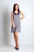 Платье с контрастным воротником TopDesign A4 086