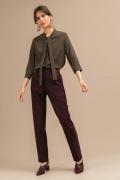 Бордовые зауженные брюки Emka D148/cario