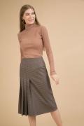 Серая юбка A-силуэта на широкой кокетке Emka S855/geneva