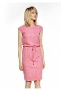 Розовое летнее платье из хлопка Ennywear 230107