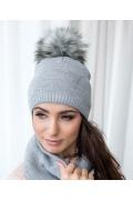Тёплая женская шапка Veilo 50.51-12 (8 цветов)