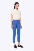 Синие брюки с высокой талией из хлопка Emka D027/monte