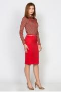 Офисная юбка красного цвета Emka Fashion 613-aglaya