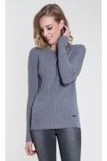 Женский свитер серого цвета Zaps Atena