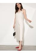 Однотонное платье с разрезом Emka PL1161/dilon