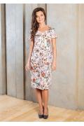 Летнее трикотажное платье миди TopDesign A7 094