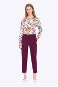 Элегантные женские брюки фиолетового цвета Emka D098/latifa