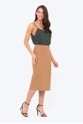 Светло-коричневая юбка с запАхом Emka Fashion 730/sandal