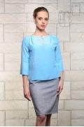 Классическая голубая блуза Bravissimo 171136