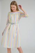 Платье в разноцветную полоску Emka PL973/yankee