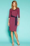 Трикотажное платье винно-бордового цвета Zaps Helmi