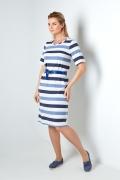 Полосатое платье с люрексом TopDesign A20 078