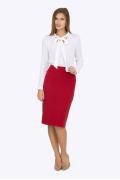 Красная юбка-карандаш Emka Fashion 669-renne