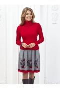 Женский свитер красного цвета Andorvers Z266