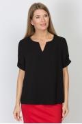 Чёрная блузка Emka Fashion b 2176/amber