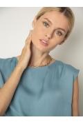 Блузка небесно-голубого оттенка Emka B2570/carter
