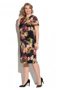 Коктейльное платье с цветочным принтом Donna Saggia DSPB-03-85